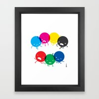 CMYK fights RGB Framed Art Print