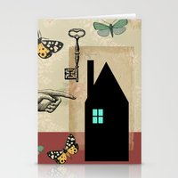 The House With The Turqu… Stationery Cards