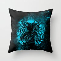 terror from the deep space Throw Pillow