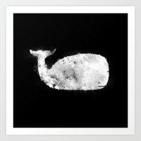 Bleached Whale Art Print