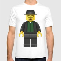 Lego Walter White - Vect… Mens Fitted Tee White SMALL