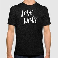 LOVE WINS Mens Fitted Tee Tri-Black SMALL