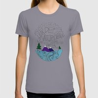Nature Womens Fitted Tee Slate SMALL