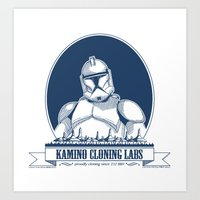 Kamino Cloning Labs Art Print
