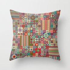 Boho Quilt Pattern 1 Throw Pillow
