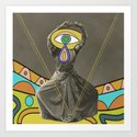 psychedelic dancer Art Print