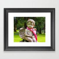 Cemetery Cherub Framed Art Print