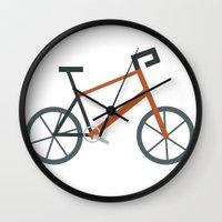 Orange Bike Wall Clock