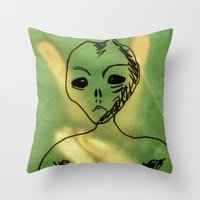 We Come In Peace. Throw Pillow
