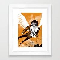 James Icarus Framed Art Print