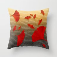 Throw Pillow featuring Red Ginko  by Lindel Caine