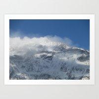 Snowy Peaks Art Print