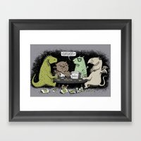 Monsters Love RPGs Framed Art Print