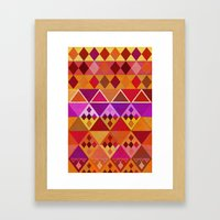 Fire Diamond Pattern Framed Art Print
