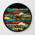Painted Desert At Night Wall Clock