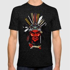 THE INDIAN SUMMER Mens Fitted Tee Tri-Black SMALL