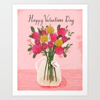 Valentines Day Bouquet F… Art Print