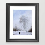 Another Day At Work... D… Framed Art Print