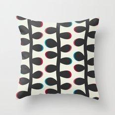 Like a Leaf [black] Throw Pillow