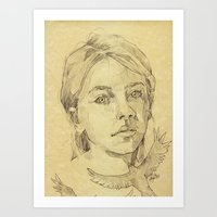 The Stranger - L'inconnu… Art Print
