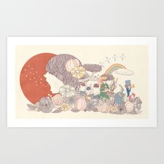 Sing for Japan Art Print