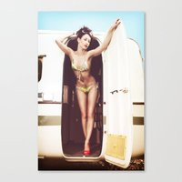 trailer park girl Canvas Print
