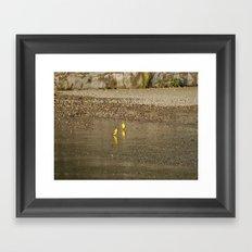 Yellow Birds Framed Art Print