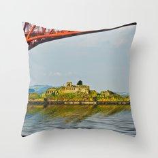 Inchgarvie Island Throw Pillow
