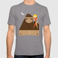 Star Gazing Mens Fitted Tee Tri-Grey SMALL