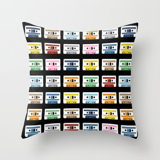 70 Rainbow Tapes Throw Pillow