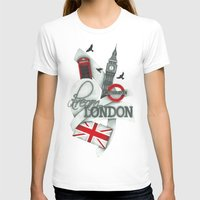 London Womens Fitted Tee White SMALL