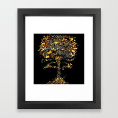 Atomic Butterfly Framed Art Print