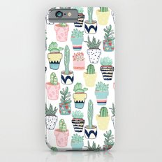 Cute Cacti in Pots Slim Case iPhone 6s
