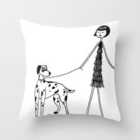 Eloise and Patch Throw Pillow