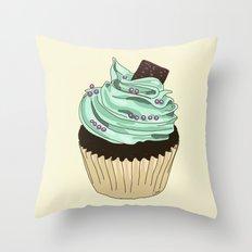 Spongy Cupcake Throw Pillow