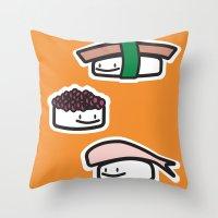 Sushi Guys Throw Pillow