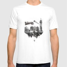 Sick City Mens Fitted Tee SMALL White