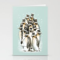 A Gathering in the Snow Stationery Cards