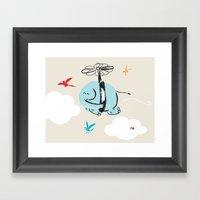 When Elephants Dream Framed Art Print