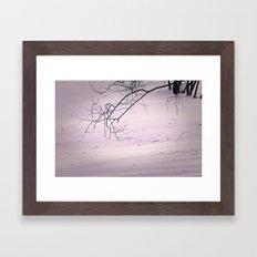 winter lines II Framed Art Print
