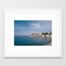 ligurian coast view Framed Art Print