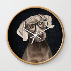 Mr Weimaraner Wall Clock