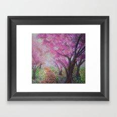 Cherry Blossom Trees Framed Art Print