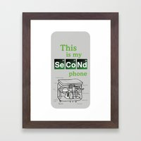 Second Phone Framed Art Print