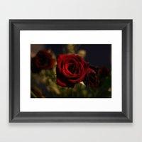Roses Are Red Framed Art Print