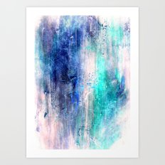 Winter Abstract Acrylic Textured Painting Art Print