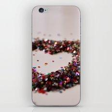 Glitter Heart iPhone & iPod Skin