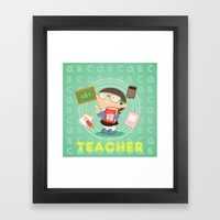 teacher Framed Art Print