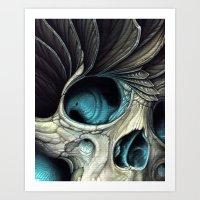 fin skull Art Print