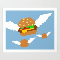 Food Flight Art Print